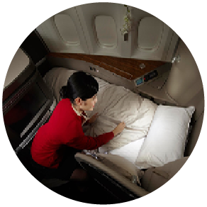 Upgraded sleep service for Cathay Pacific